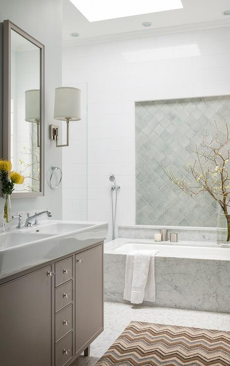 Walker Zanger Contessa Arabesco Contemporary Bathroom