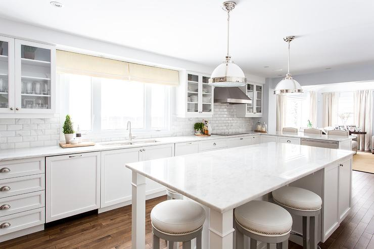 Cool White Kitchen Island With Gray Barstools Transitional Machost Co Dining Chair Design Ideas Machostcouk