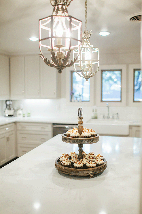 white french chandeliers french kitchen