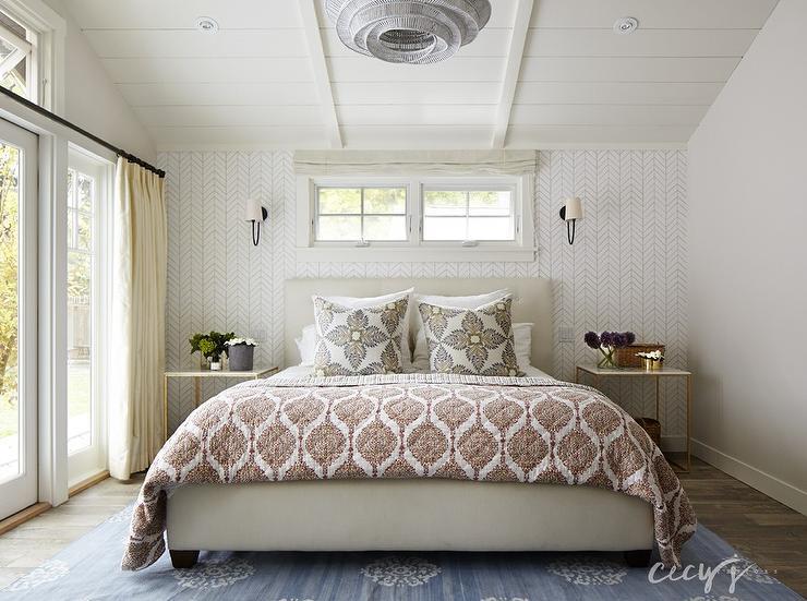 Bed Below Window, Transitional, Bedroom