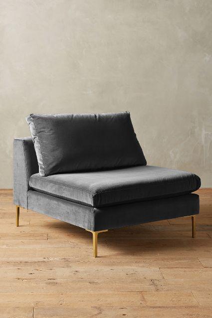 Velvet Edlyn Gray Chair