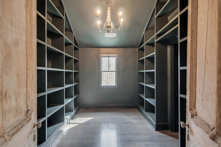 gray built in closet shelving - Closet Shelving