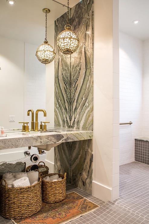 Bathroom Vanity Baskets eclectic bathroom vanity design ideas