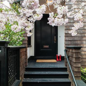 Black Front Door, Transitional, Home Exterior