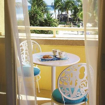 Balcony Cafe Table and Chairs, Contemporary, Deck/patio