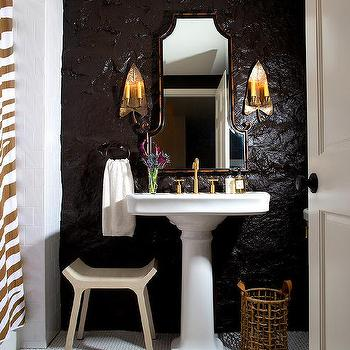 Faux Bamboo Vanity Mirror, Eclectic, Bathroom