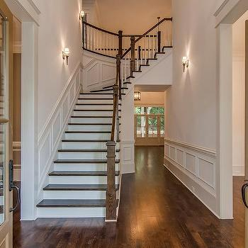Foyer Hall With Wainscoting