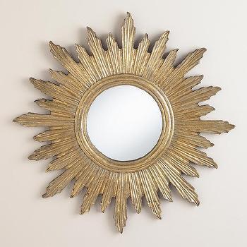 Large Antique Gold Leila Sunburst Mirror
