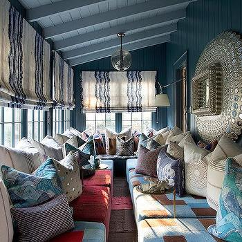 Moroccan Sunrooms, Eclectic, Living Room