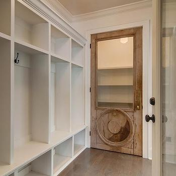Salvaged Wood Closet Door, Vintage, Laundry Room
