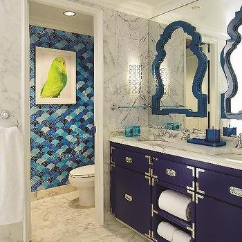 Navy Campaign Washstand Design Ideas - Bathroom vanities palm beach