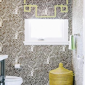 Yellow and Brown Bathrooms, Contemporary, Bathroom