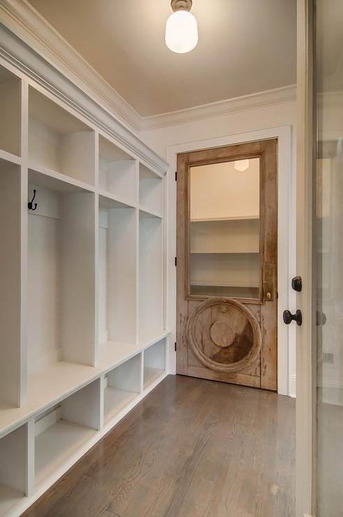 Salvaged Wood Closet Door Vintage Laundry Room