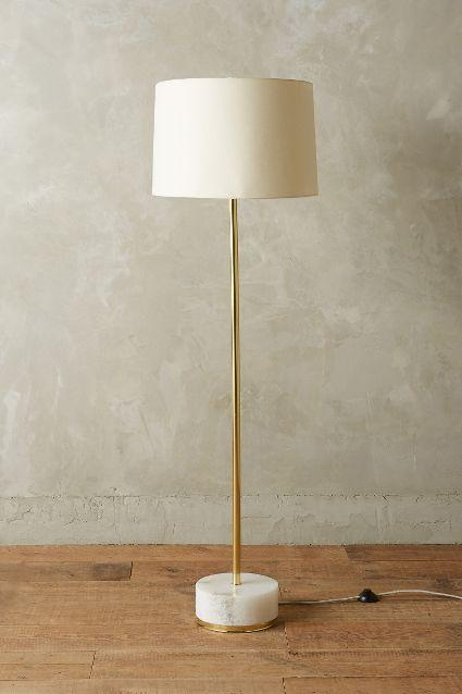 Radiant Alabaster Brass Floor Lamp