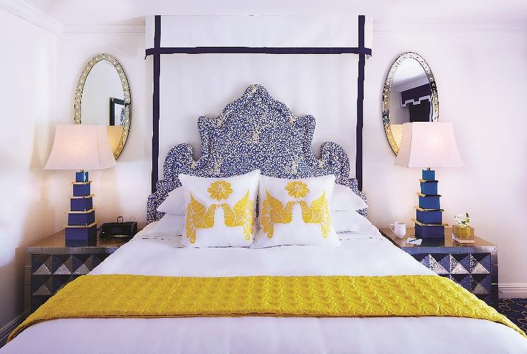 Yellow and Blue Bedrooms - Contemporary - Bedroom