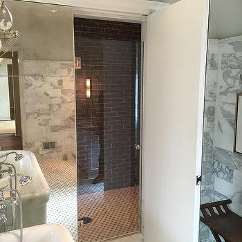 Hidden Shower, Transitional, Bathroom