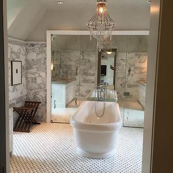 Statuary Marble Bathroom Tiles Design Ideas