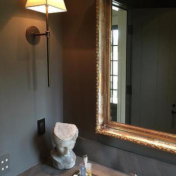 Orante Gold Vanity Mirror, Transitional, Bathroom