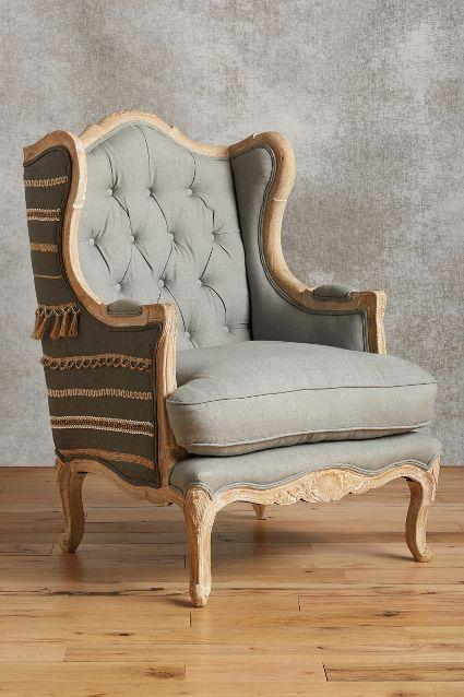 andorry wingback gray chair. Black Bedroom Furniture Sets. Home Design Ideas