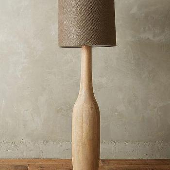 Carved Oak Floor Lamp