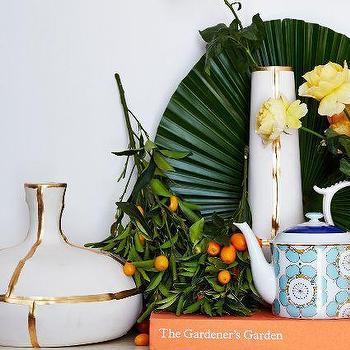 Fused Gold Vase