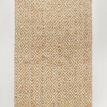 Perfect Diamond Tile Jute Natural Rug