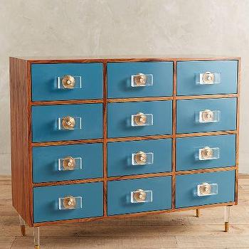 Lacquered Regency Twelve Drawer Dresser