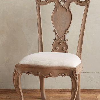 Handcarved Tassel Side Chair