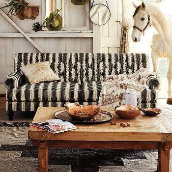 Yarn-Dyed Fan Pleat Sofa