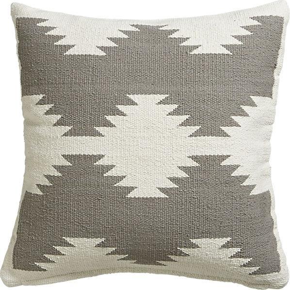 Eskayel Nairutya White Gray Watercolor Pillow