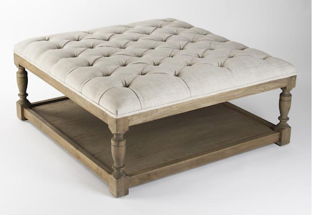 Zentique Square Tufted Ottoman Look for Less