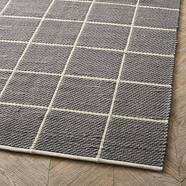 Square Pattern Rug Home Decor
