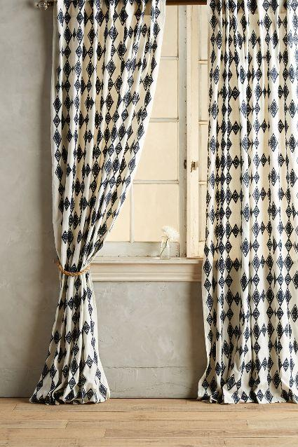 Black And White Pattern Curtains