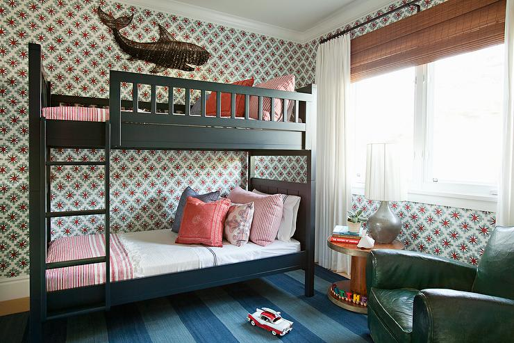 Black Bunk Beds With Ladder Cottage Boy S Room