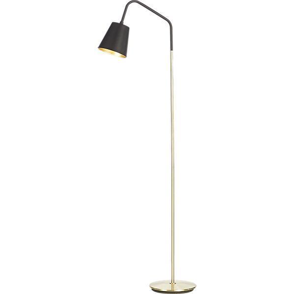 b46f0758edb Crane Brass Floor Lamp