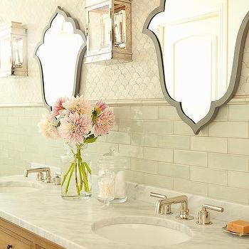 Gray Vanity Mirrors, Cottage, Bathroom