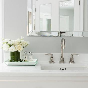bathroom vanity with ring pulls