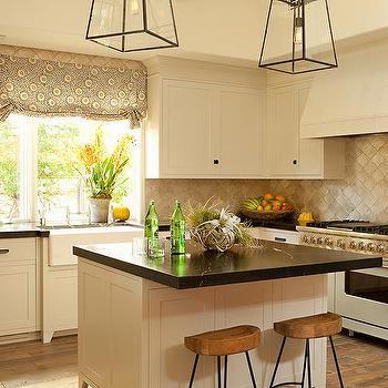 Cream Shaker Kitchen Cabinets, Transitional, Kitchen
