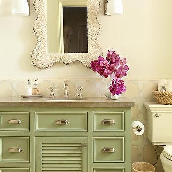 Green Bathroom Vanity, Cottage, Bathroom