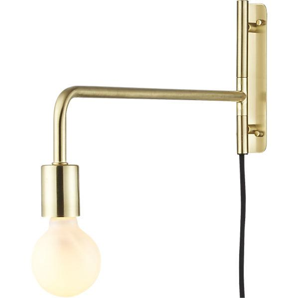 Wall Lights With Swing Arm : Swing Arm Brass Wall Sconce