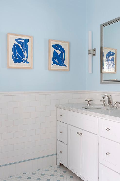 Blue Bathroom Paint Colors - Transitional - Bathroom -6170