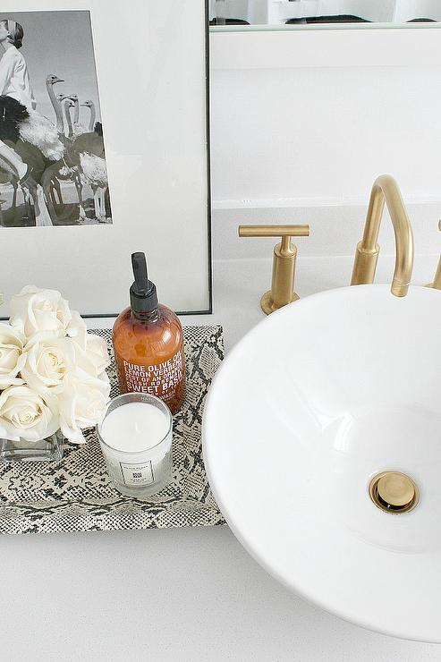 Bathroom With Faux Python Tray