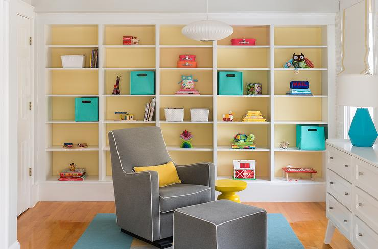 Gray Boy Nursery with Yellow Accents - Contemporary - Nursery ...