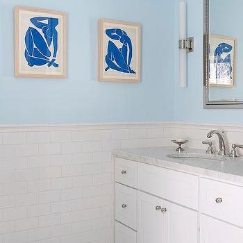 Blue Bathroom Paint Colors, Transitional, Bathroom, Benjamin Moore Harbor Haze