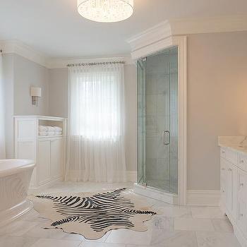 Bathroom with Corner Shower, Transitional, Bathroom, Benjamin Moore Stonington Gray