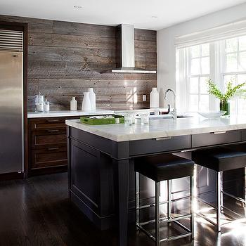 Kitchen with Plank Backsplash, Eclectic, Kitchen