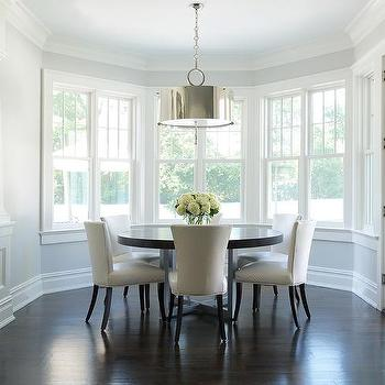Curved Dining Room, Transitional, Dining Room