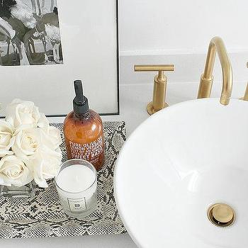 Bathroom with Faux Python Tray, Transitional, Bathroom