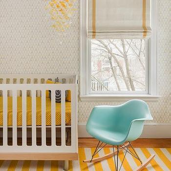 Yellow Butterfly Nursery Mobile, Contemporary, Nursery