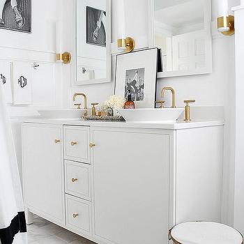 Vibrant moderne brushed gold faucet design ideas for Brushed gold bathroom accessories